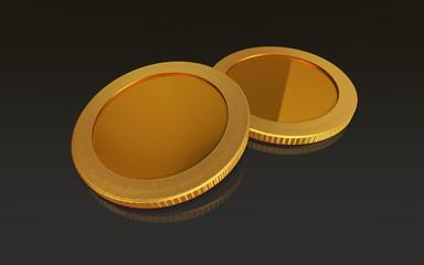 gold coins black