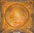 Bologna - Fresco in side cupola of Dom - Saint Peters church