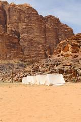 Mountains of Wadi Rum Desert in southern Jordan