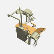 Dentist chair 3d top view