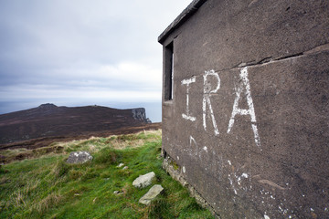 IRA graffiti on Horn Head, Ireland