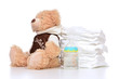 Child diapers baby feeding bottle teddy bear toy