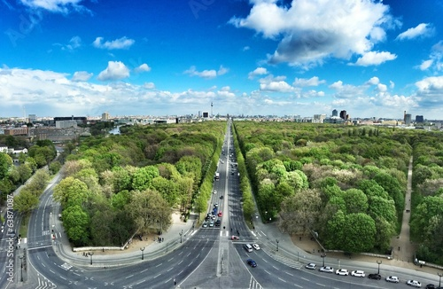 canvas print picture Panoramic view of Berlin from top of the Siegessäule