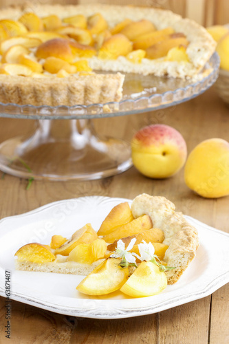 Piece of apricot pie