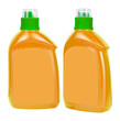 Orange plastic bottles for liquid soap