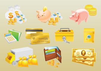 Money Vectors Set