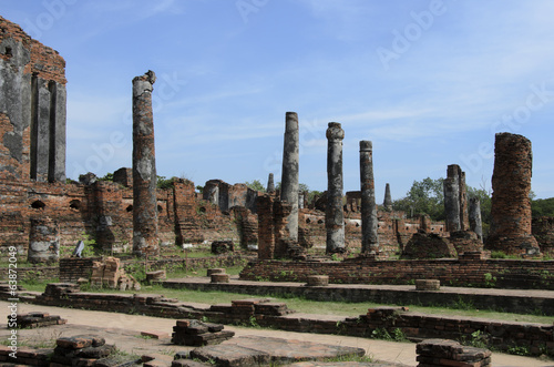 Ruins At Wat Phra Si Sanphet in Ayutthaya, Thainlans