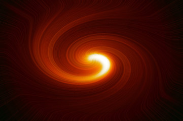 Swirling star - fiery orange. Abstract background.