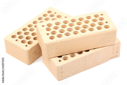 New bricks, isolated on white