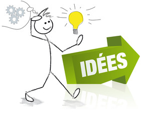 personnage et flèche idées