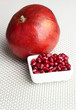 Ripe pomegranates on light background