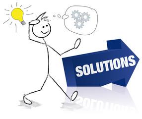 personnage et flèche solutions
