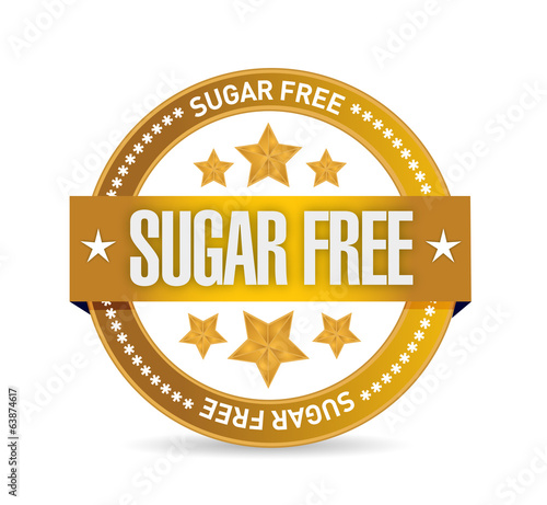 sugar free seal illustration design