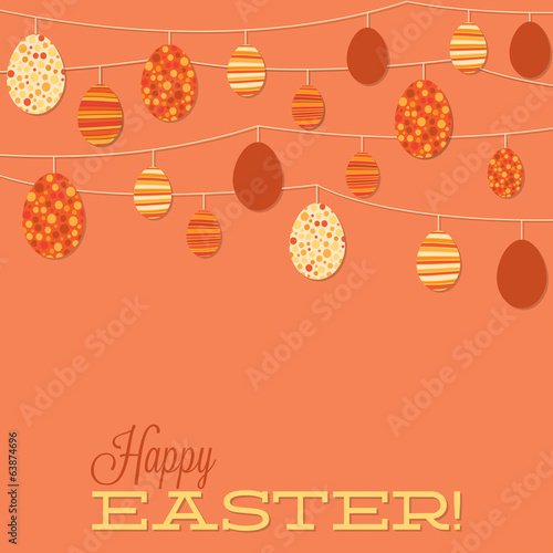 String of retro Easter eggs in vector format.