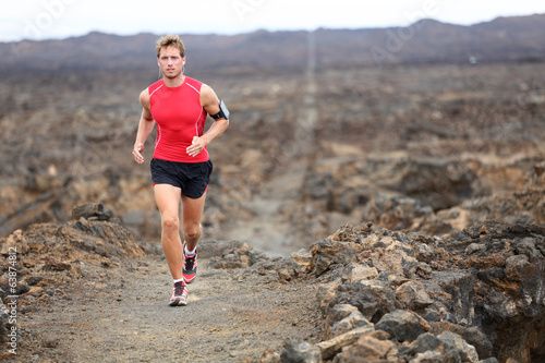 Trail runner - running man