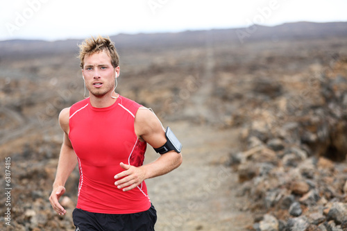 Man running - trail runner training