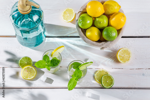 Closeup of citrus drink for summer