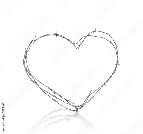love heart shaped wire
