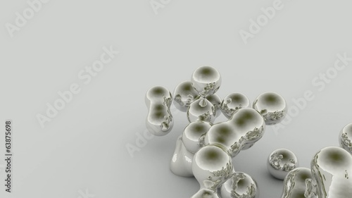3D ANIMATION FLOW OF LIQUID PARTICULES