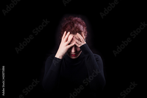 Young woman feeling Depressed