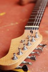close up of the guitar