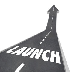Launch Word Road Street Up Direction New Business Product Compan