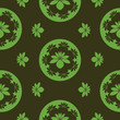 vector seamless floral green pattern