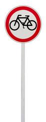 panneau accès interdit aux cyclistes