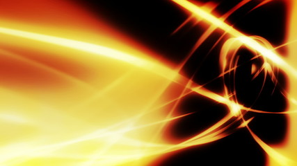 Flowing golden wisps looping animated background