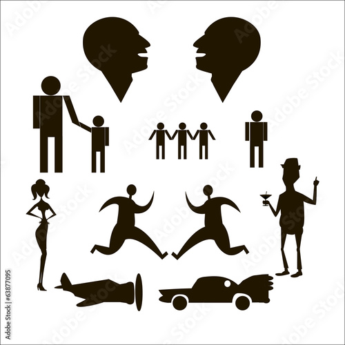 People on a white background clipart