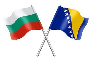 Flags: Bulgaria and Bosnia-Herzegovina
