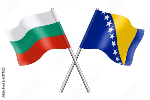 Flags: Bulgaria and Bosnia-Herzegovina