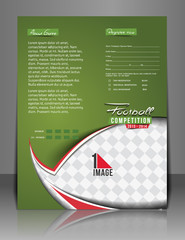 Football Competition Back Flyer & Poster Template.