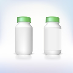 Bottle for dietary supplements and medicines.
