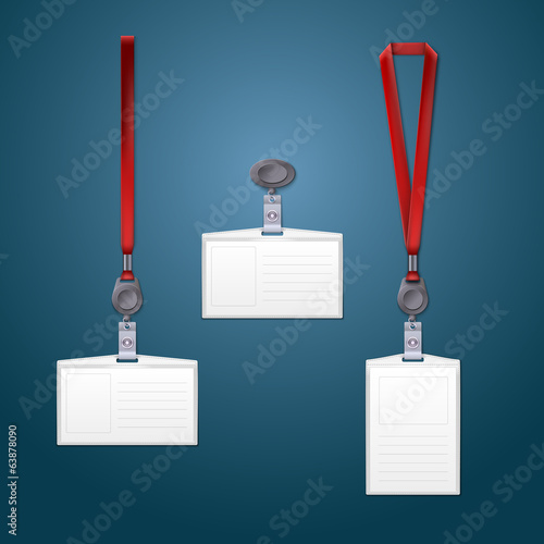 Lanyard, retractor and badge templates.