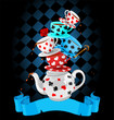 Wonder Tea Party pyramid design - 63878257
