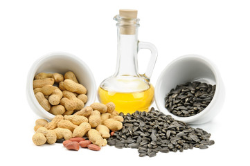 Sunflower seeds, peanuts and oil