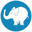Elephant sign - vector illustration