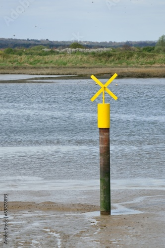 Yellow Boating Signal in creek
