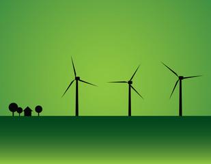 Wind turbine and house