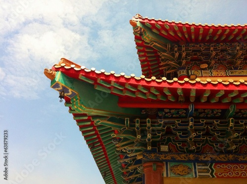 roof of chinese buddhist temple