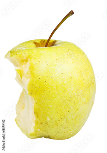 half of golden delicious apple