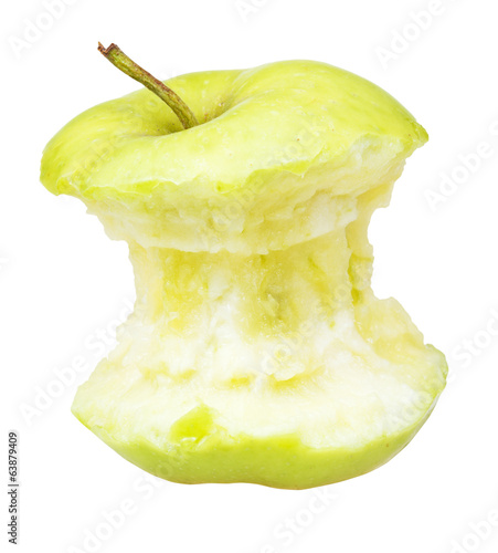 bitten granny smith apple