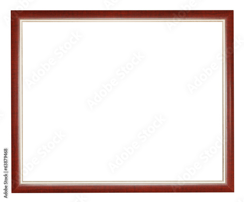 narrow brown wooden picture frame