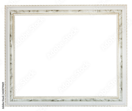 grey wide carved wooden picture frame