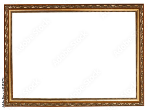 narrow gilted wooden picture frame