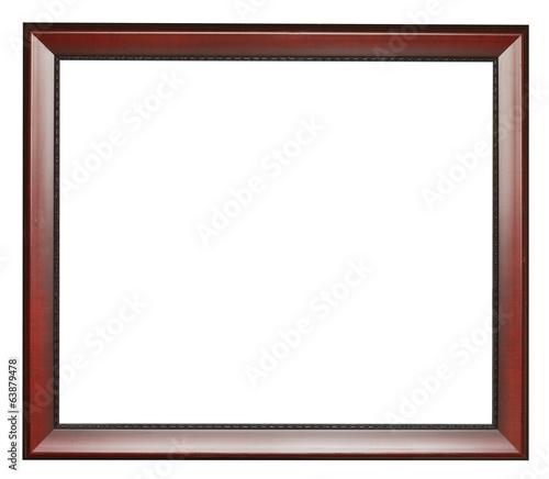 wide dark brown flat wooden picture frame