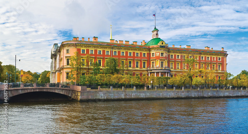 The Mikhailovsky Castle in St.-Petersburg, Russia