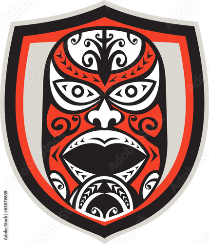 Maori Mask Shield Retro