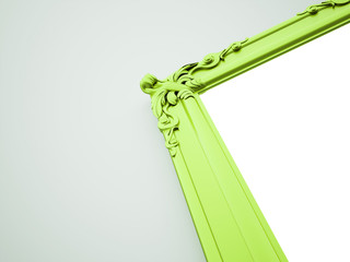 Green mirror frame old
